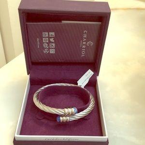 Charriol Celtic Steel Lapis Bracelet new in box